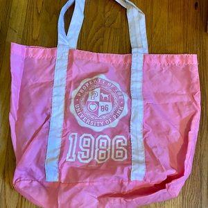 Pink Victoria Secret tote bag